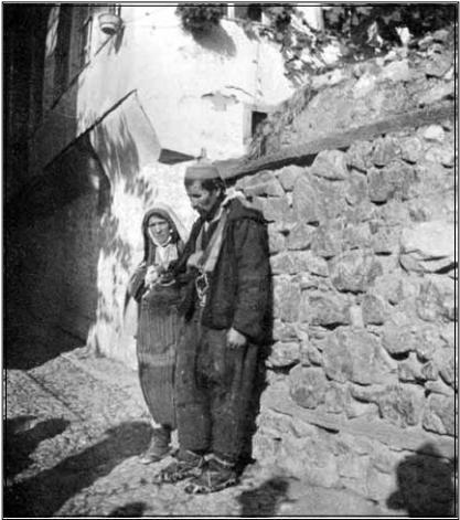 Сиромашни селани во Охрид, 1904, фотографија