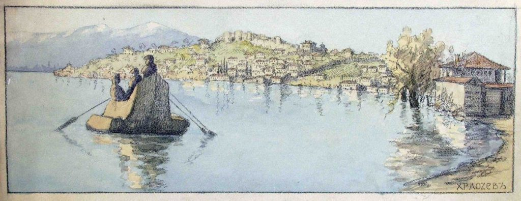 Hristo-Lozev-1883-–-1970-Ohrid-1918-and-Girl-from-Struga-1917-watercolors