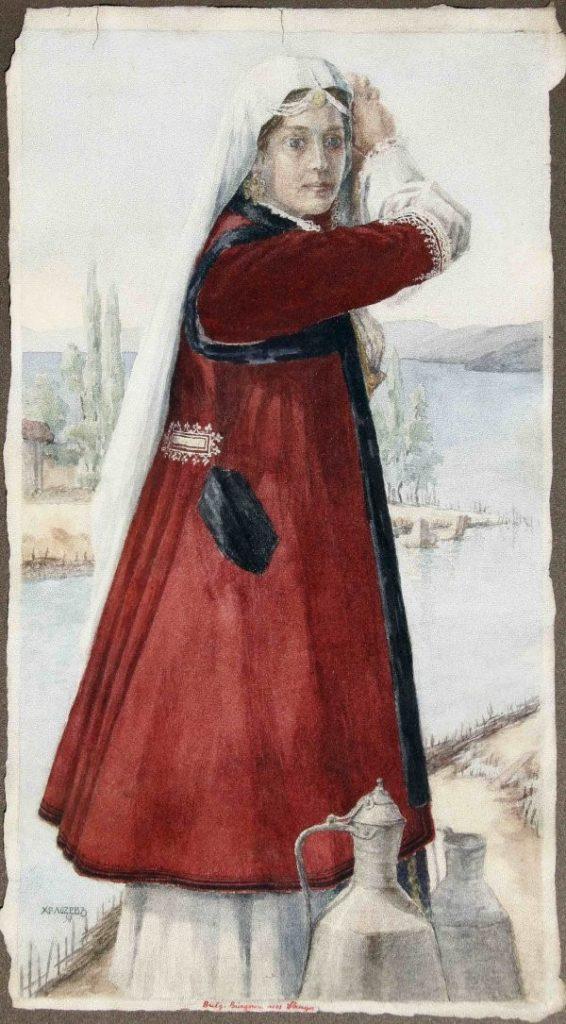Hristo-Lozev-1883-–-1970-Ohrid-1918-and-Girl-from-Struga-1917-watercolors.