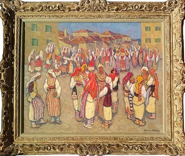 Пазар на Невести , Охрид,  масло на платно