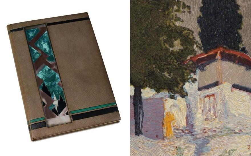 """Книгата """"Солун Македониа Атос"""" од Франсоа-Луи Шмет, со негови литографии според оригинали цртежи од Македонија  на Жан Гулден, 1922"""