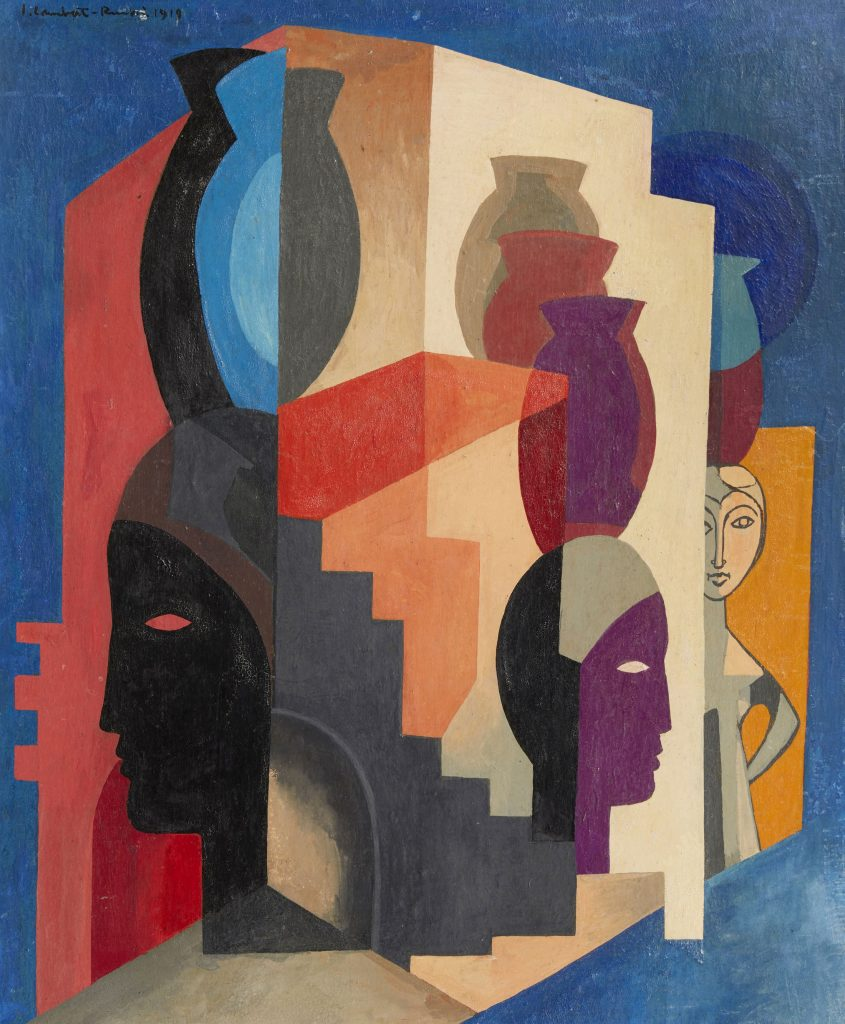 Jean-Lambert-Rucki-1888-1967-Composition-aux-visages-Salonique-1919-oil-on-canvas