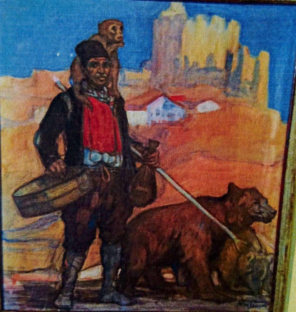 Кротител на мечка во Солун, гваж
