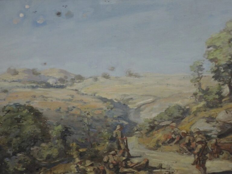 "Џозеф Денован Адам (1881-1935) Македонија ""Варда"" фронт, масло на платно"