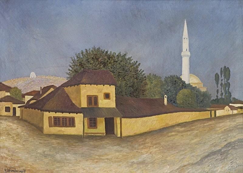 """Густав Вундервалд (1882-1945) """"улица во Скопје, Македонија"""" (""""Straße in Üskyp (Mazedonien)"""") c.1917"""