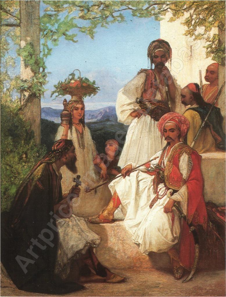Louis-Devedeux-1820-1874-Un-poste-de-volontaires-pres-de-Salonique-Turquie