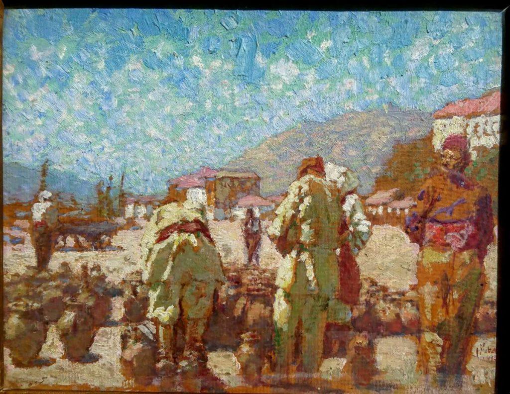 Ludvik-Kuba-1863-–-1956-Pottery-Market-in-Shtip-1925-oil-on-panel