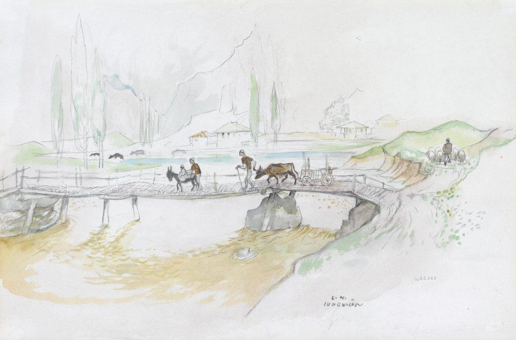Мост преку вардар, акварел