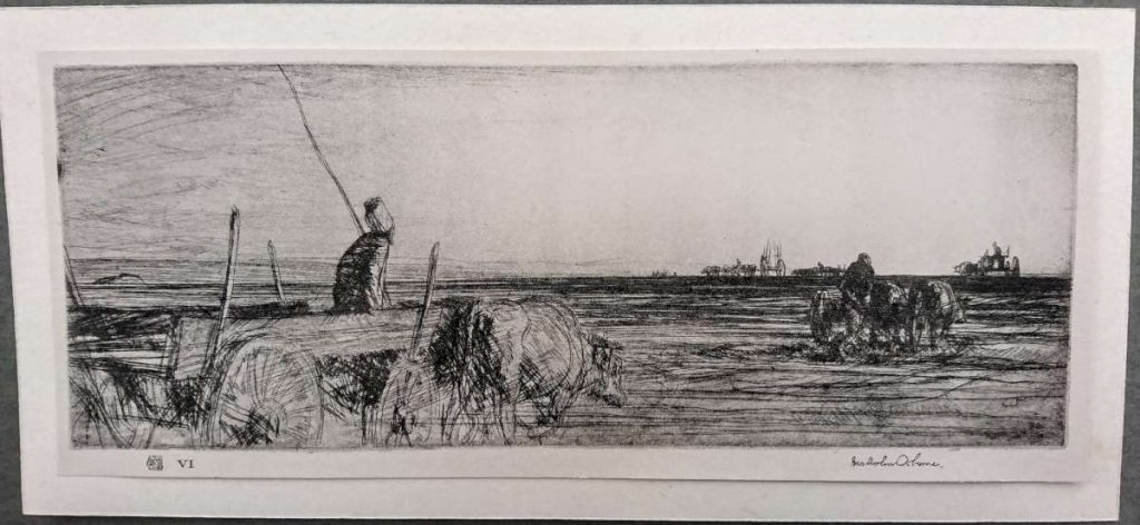 Влечкачи во низина крај Дојран 1917, гравура