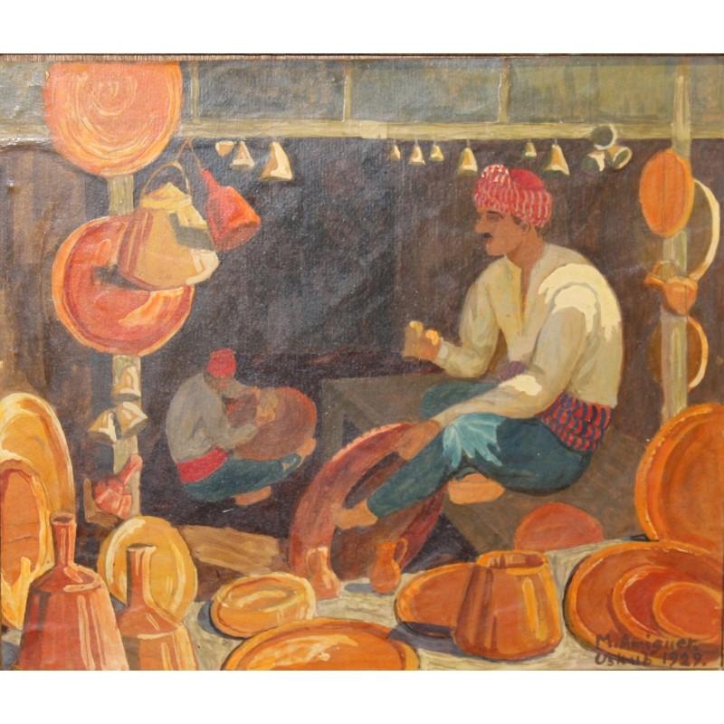Marcel Amiguet (1891-1958), Scene de marche d'Uskub, (1929)