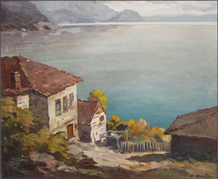 Mario Zhekoff 1898-1955 - Near Ohrid 1917 oil on canvas