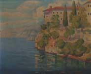 Milan-Milovanovic-1876-–-1946-Saint-Naum-Monastery-Ohrid-1907-oil-on-canvas