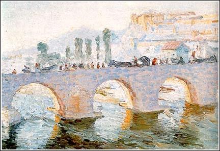 Milan-Milovanovic-1876-–-1946-The-bridge-of-Emperor-Dushan-Skopje-1907-oil-on-canvas