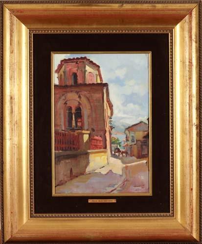 Света Софија Охрид 1930, масло на платно