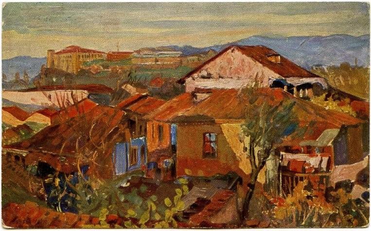 Скопје 1917, масло на платно