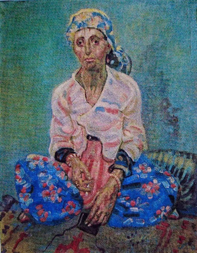 Nikola Petković The fortune teller oil on canvas 1928
