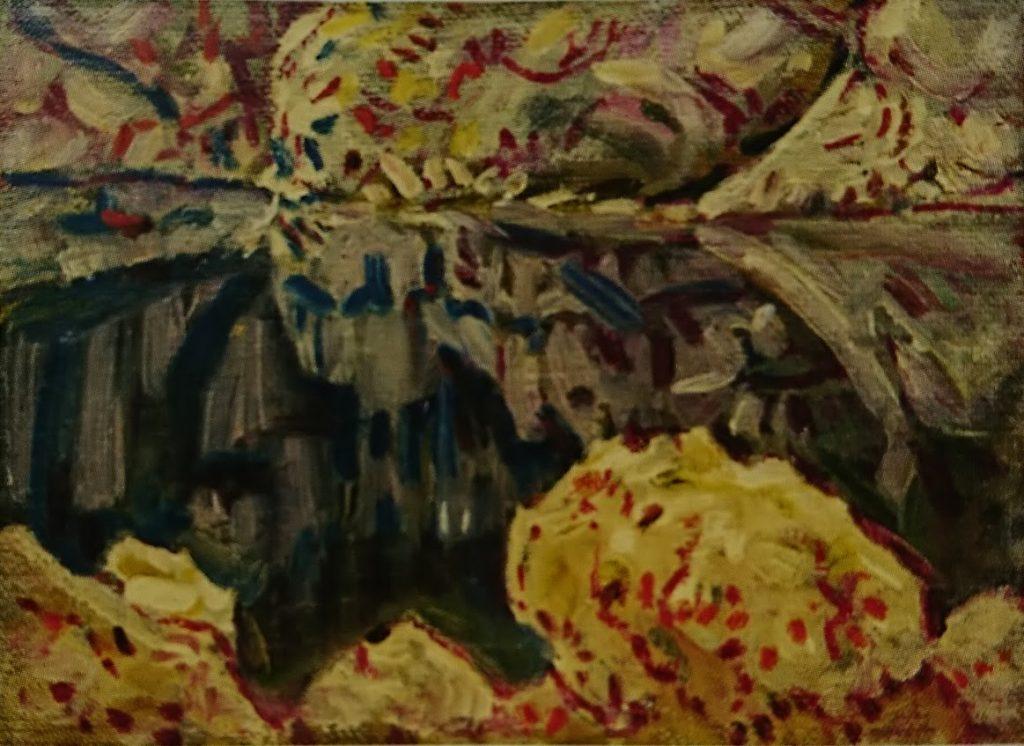 Nikola Petković reflection from lake water Ohrid oil on canvas 1928