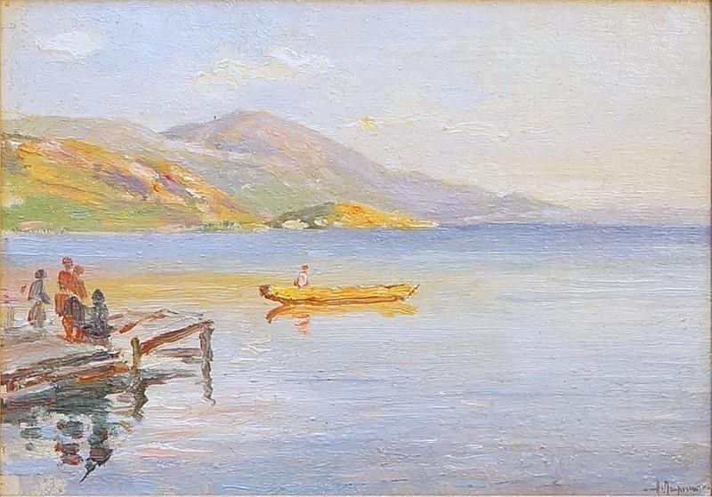 Oleksandr Ivanovych Lazhechnikov 1870 – 1944 Ohrid 1925 oil on panel