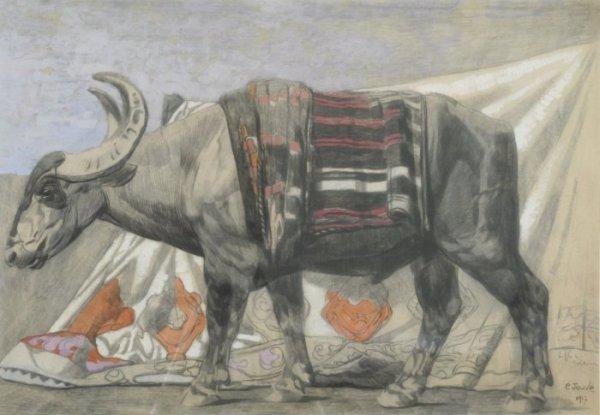 Paul-Jouve1880-1973-Buffe-Macedoine-1917gouache