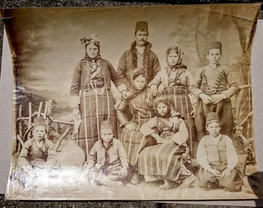 "Paul Zepdji (XIX-XX) ""Bulgarian / Macedonian /Greek family from Thessaloniki"" photograph, ~1890"