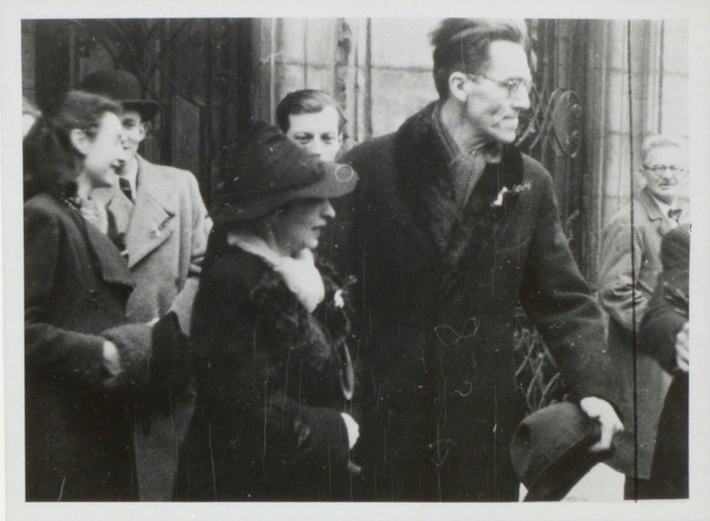 Photograph of Helmut Krommer on the day of Germanys annexation of Czechoslovakia 15 March 1939