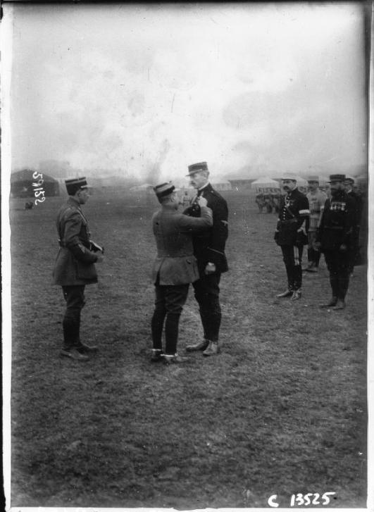 René Préjelan (1877-1968) , Photo fo Prejelan received a medal of honor, Thessaloniki 1916
