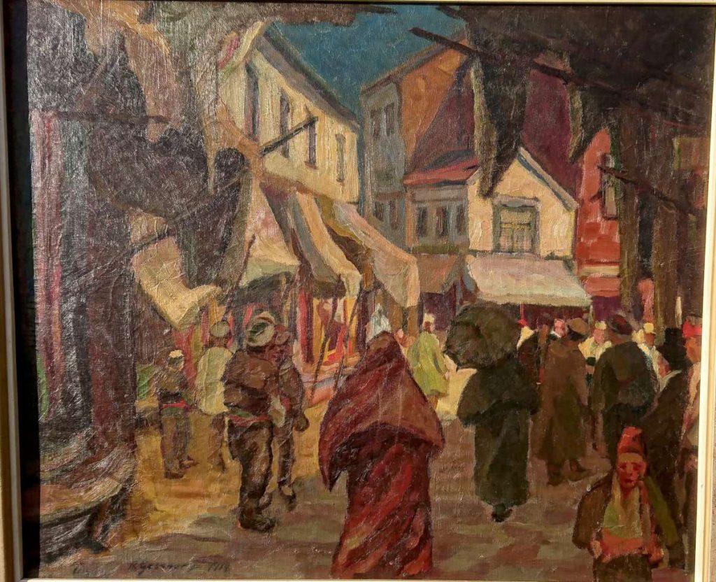 Ушкуб Македонија 1917, масло на платно