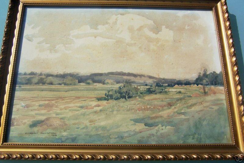 Robert Houston RSW 1891-1942 Macedonian landscape 1917-1918 watercolor