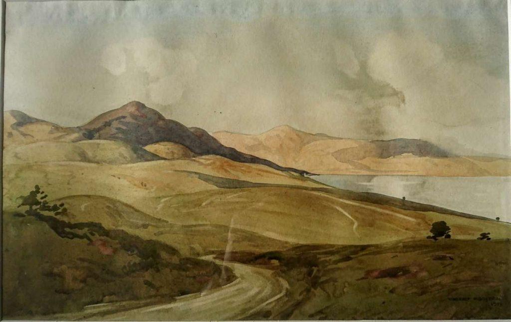 Крај Дојранското езеро 1917, акварел