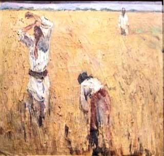 Македонски жетвари 1929, масло на платно