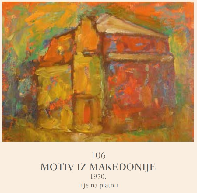 """"""" Scene from Macedonia"""" 1950 oil on canvas"""