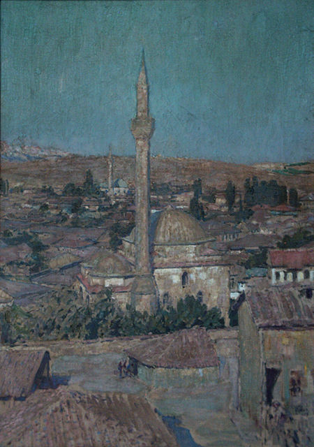 Ludvik Kuba (1863-1956) Skopje 1927 oil on canvas