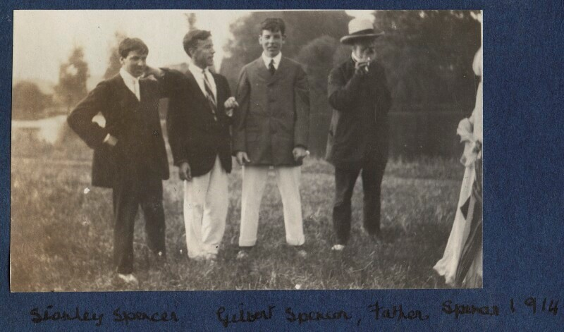 Stanley, Sidney, Gilbert and the father William Spencer, Cookham 1914