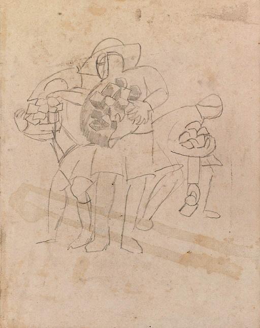 Војниците собираат камења, Тодорово Македонија 1916, молив