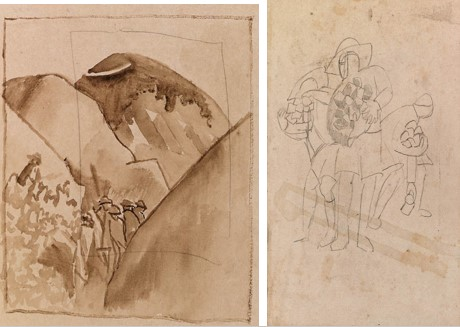 Stanley Spenser (1892-1957) British Soldiers in Todorova, Macedonia, 1917, drawings