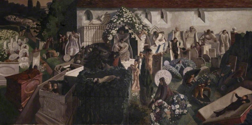 Stanley Spenser (1892-1957) Resurrection, Cookham, 1924, oil on canvas,