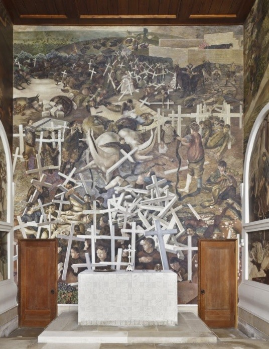 Stanley Spenser (1892-1957) Resurrection of a Soldiers, 1927-32, Sandham Memorial Chapel, Hampshire