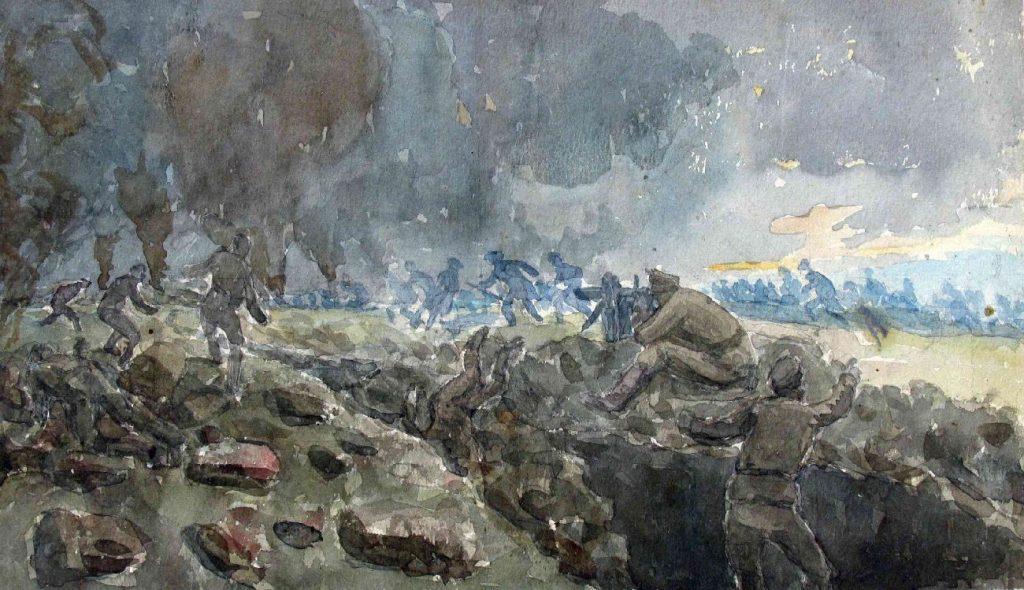 Stanyo-Stamatov-1887-1963-Kenali-Kremenica-Bitola-region-The-French-army-attacks-1916