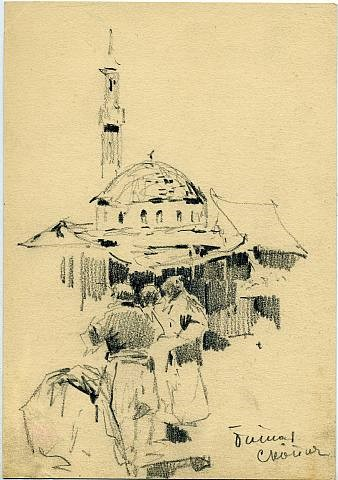 Stepan-Fedorivic-Kolesnikov-1879-–-1955-Basar-in-Skopje-pencil