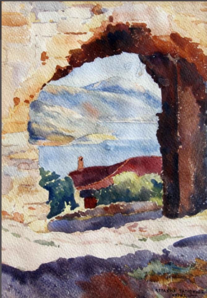 Strahil Titirinov (1905-1961) Ohrid, 1941, watercolor