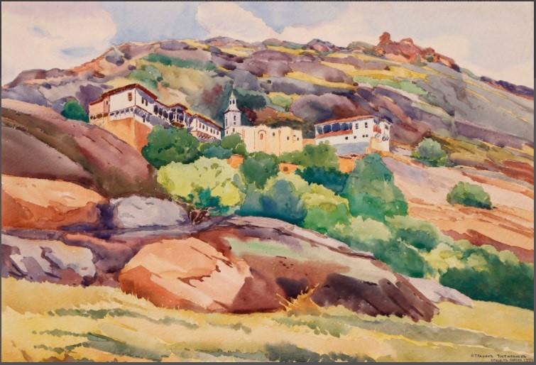 Strahil Titirinov (1905-1961) Prilep, Varosh 1941, watercolor