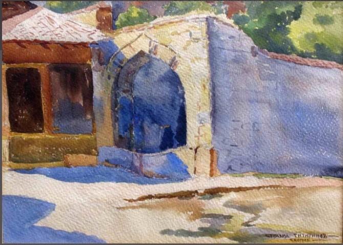 Strahil Titirinov (1905-1961) Skopje, 1941, watercolor
