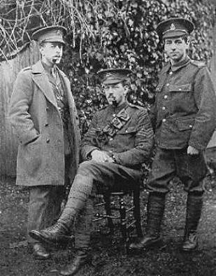 The Spencer brothers: Percy(seated), Sidney(left) and Stanley (right) upon regurgitation in 1915