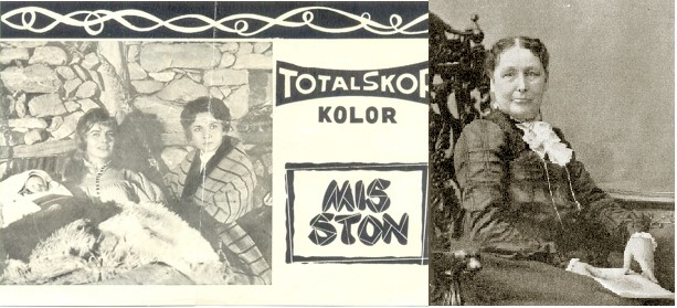 The film version of Miss Ellen Stone( left ) and the real Miss Ellen Stone (right)