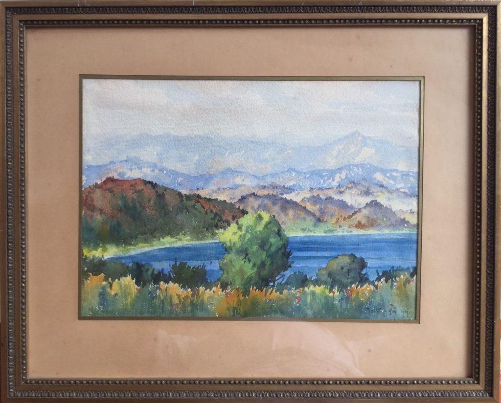 Theodor Charles Balke ((1875 -1951),Lac Presba (lake Prespa, Greece ) 1919 watercolor