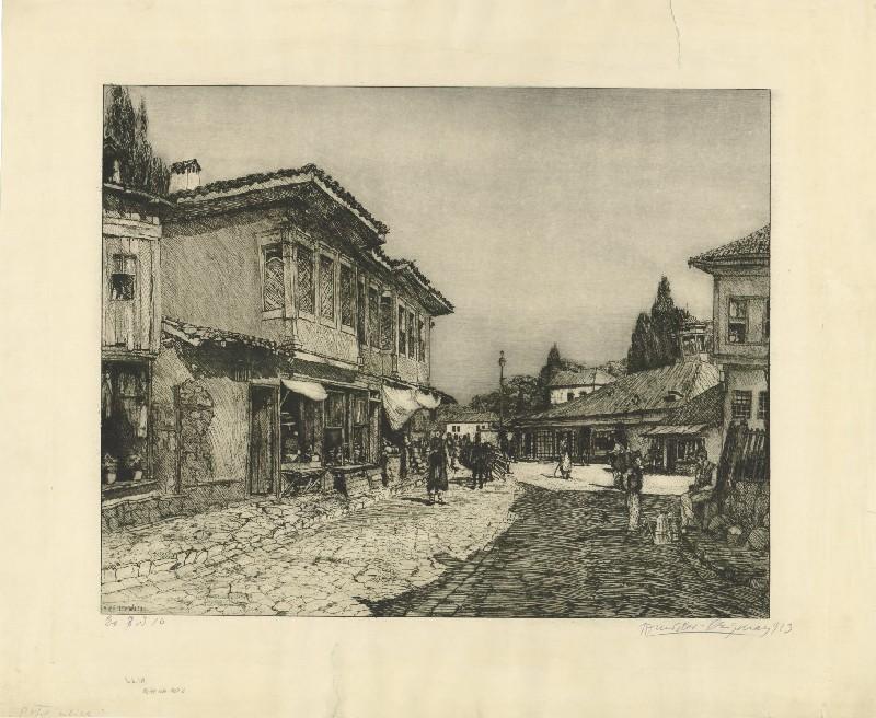 Tomislav-Krizman-1882-–-1955-Street-in-Bitola