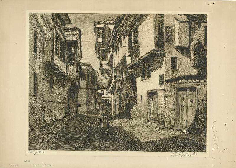 Улица во Охрид 1926, бакрорез