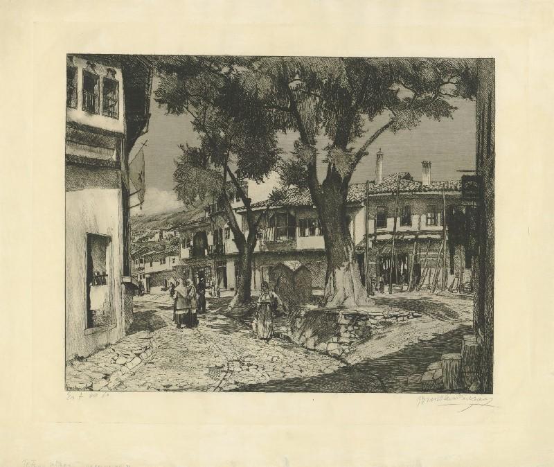 Tomislav-Krizman-1882-–-1955-Street-in-Tetovo
