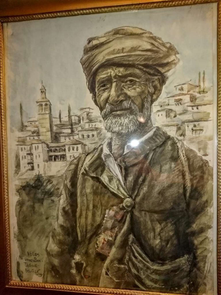 Unidentified (Wunderwald?) Tobacco picker from Veles, watercolor and pencil