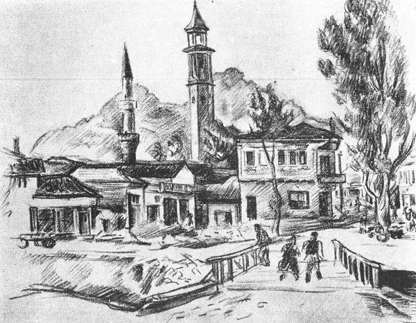 Прилеп 1943, цртеж со графит
